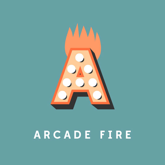 arcade fire typography