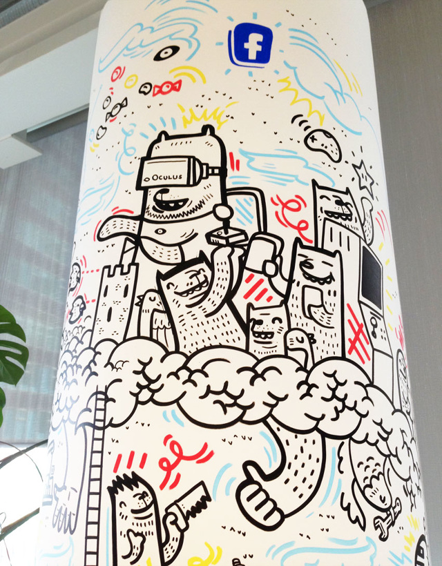 Facebook mural