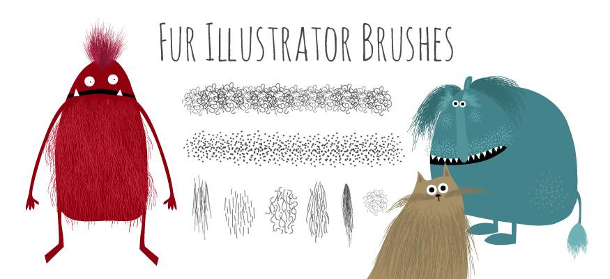 Best illustrator brushes: fur