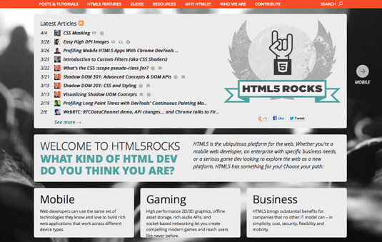 HTML5 resources
