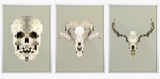 experimental design: pixelated prints