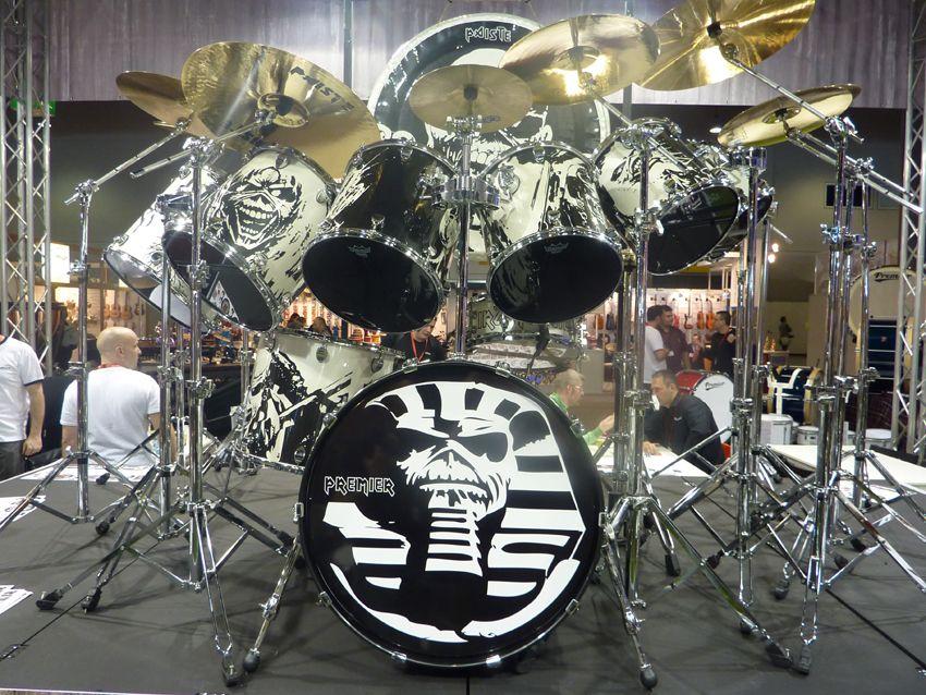 Musikmesse 2011 Premier Unveils Iron Maiden Drum Kit