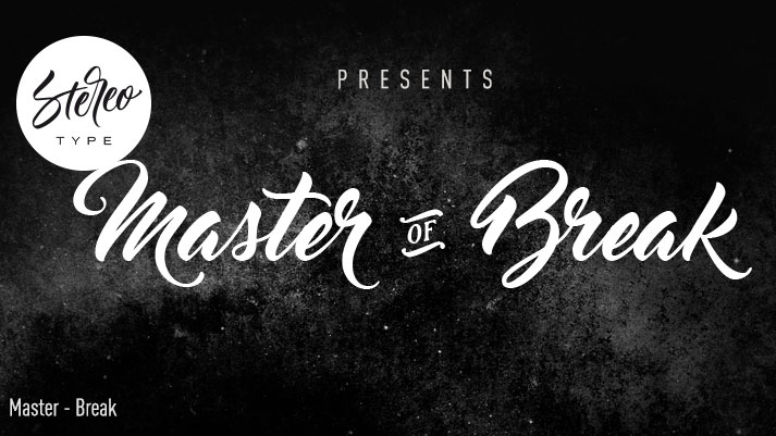 Calligraphy fonts: Master of Break