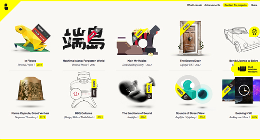 Web design portfolios - Bryan James