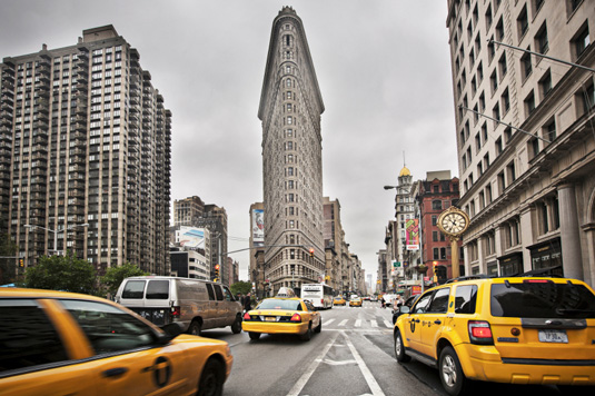 Famous buildings: Flatiron building in New York