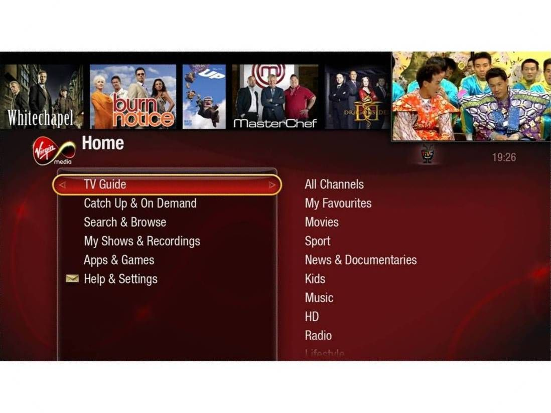 First Pictures Virgin Media S New Tivo User Interface