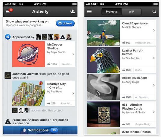 Best iphone apps: Behance