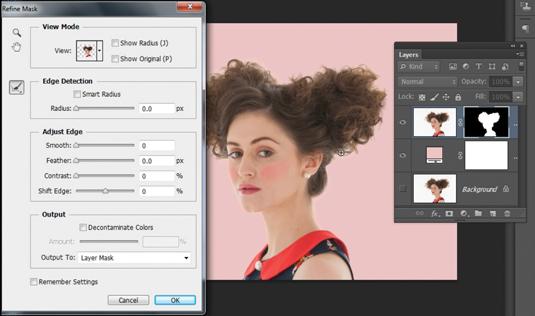 Photoshop CS6: cut out hair 3