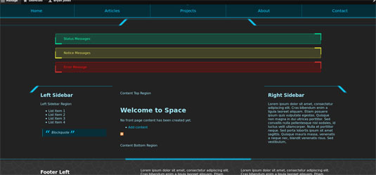 Drupal themes - Space