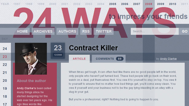 Andy Clarke's 2008 article Contract Killer is a must-read for anyone wanting a friendly approach to drafting contracts
