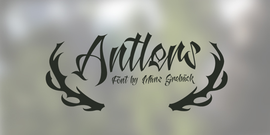 Antlers tattoo font