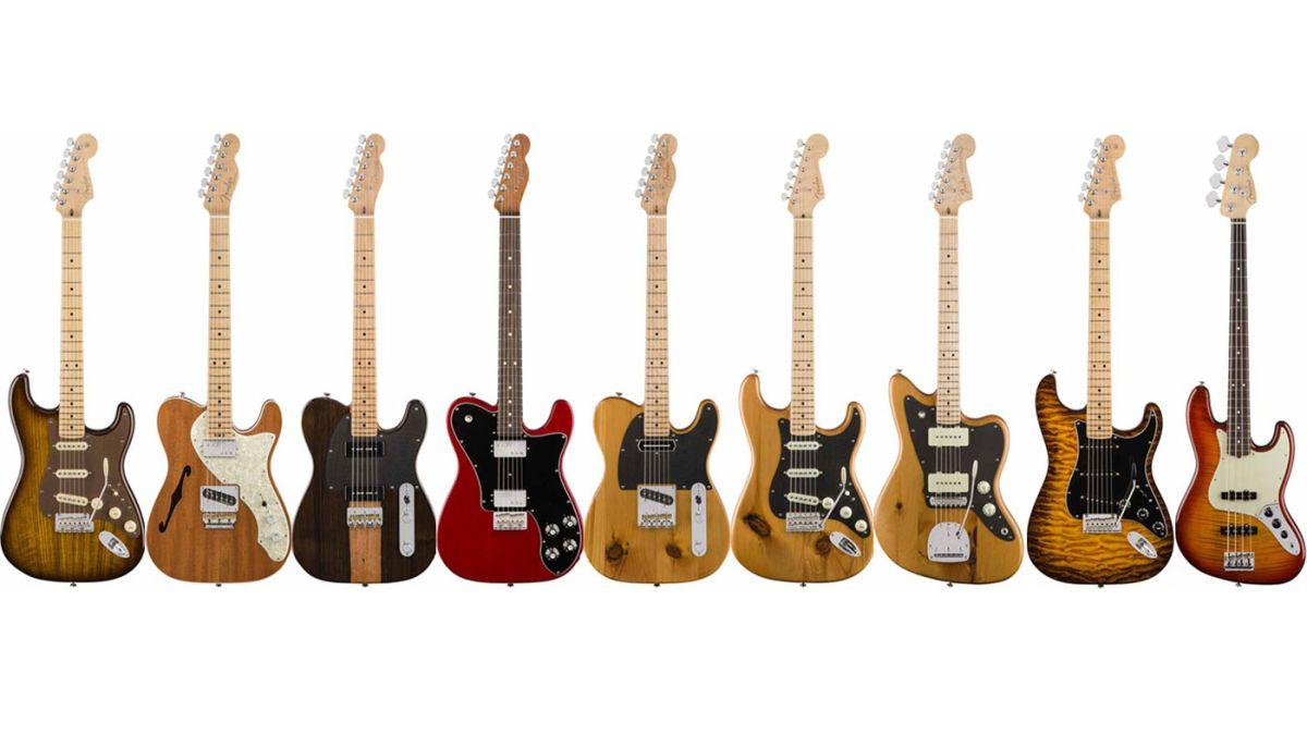 namm 2017 fender announces 9 limited edition exotic collection guitars musicradar. Black Bedroom Furniture Sets. Home Design Ideas