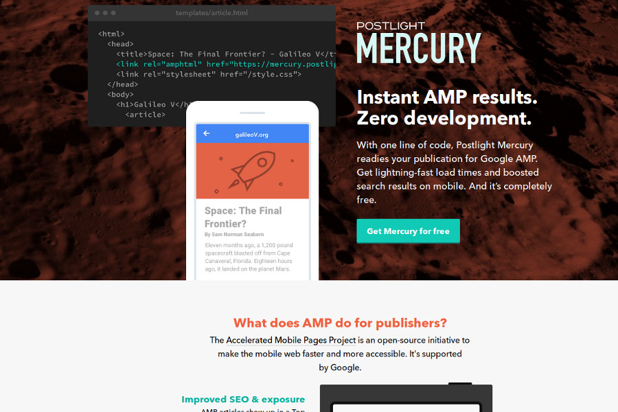 web design tools: postlight mercury