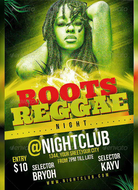 Flyer templates: Roots Reggae