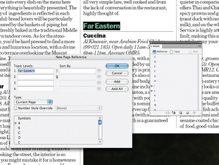 Create an index in InDesign: step 2