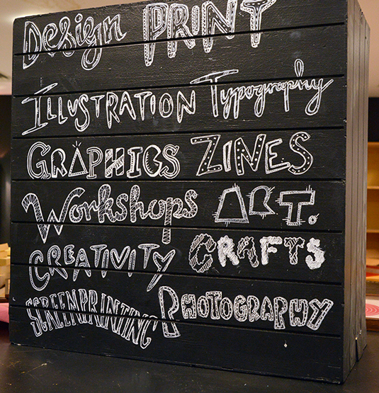 Pop-up shop signage