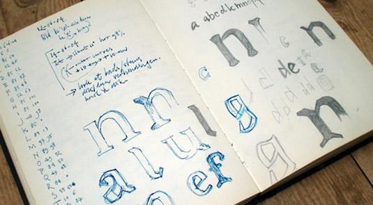 Get started with type design: sketchbook