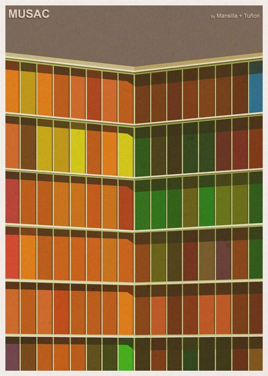 Architecture illustrations - Musac