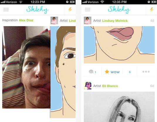 Sktchy app