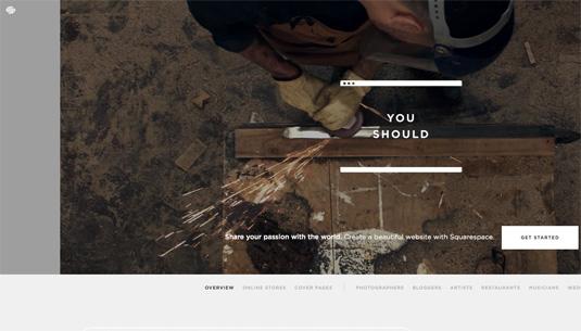 Design portfolio: SquareSpace