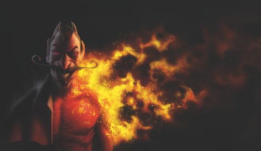 Paint burning flesh
