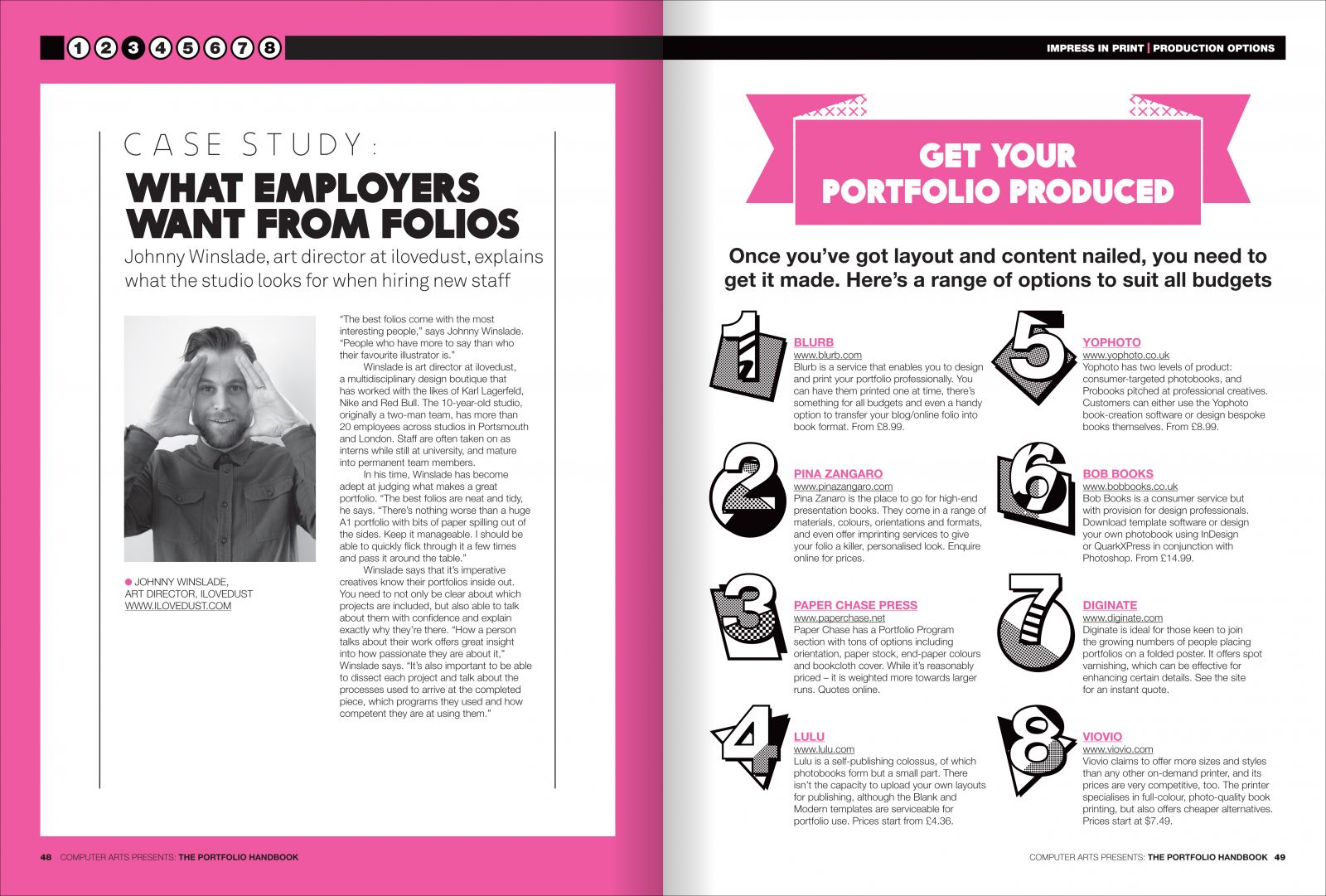 Spread from chapter three: what employers want