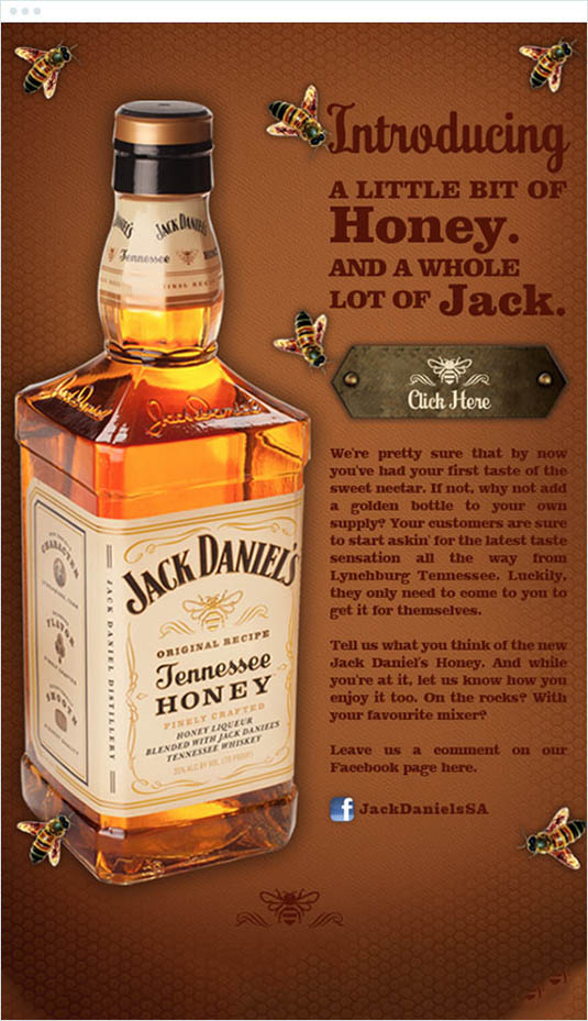 email newsletter designs: Jack Daniel's
