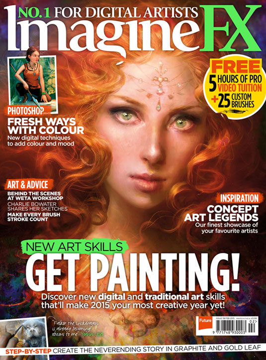 Learn new painting skills with the latest ImagineFX