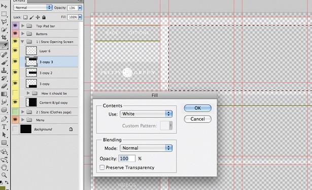 Design an iPad app UI in Photoshop: step 11