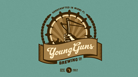 Logotype: Young Guns Brewing Company