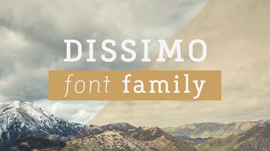 Dissimo font