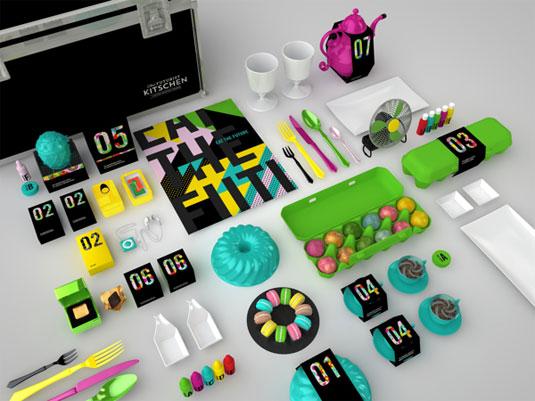 The Futurist Kitschen branding