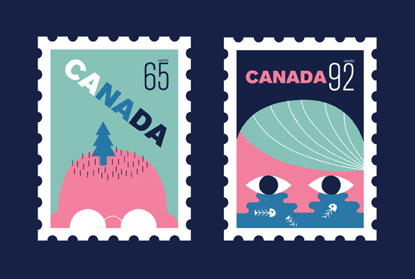 Illustrated stamps Canada