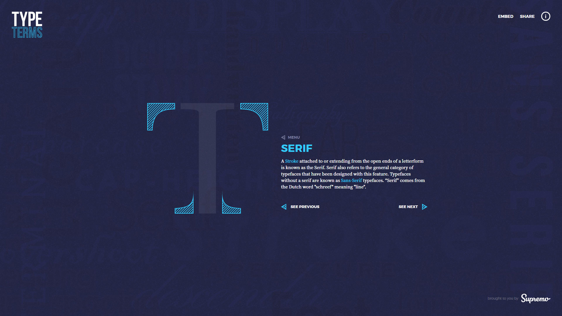 Typography: Type terms