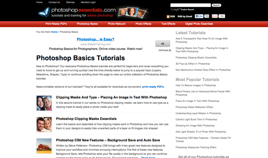 Photoshop resources: Photoshop Essentials