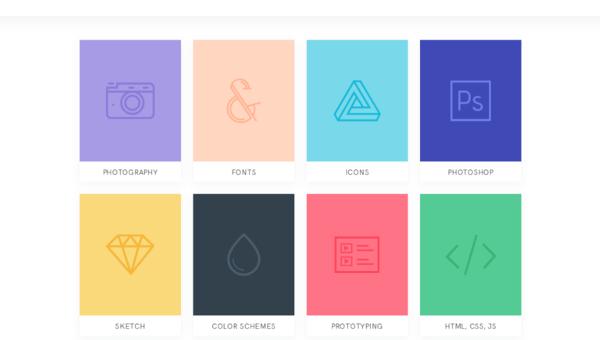 web design tools: resource cards