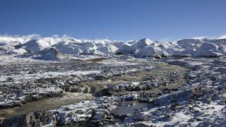 Glacier on the Tibetan Plateau.