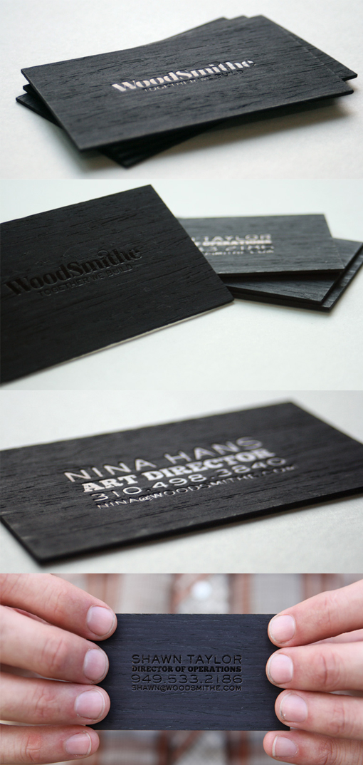wooden business card designs