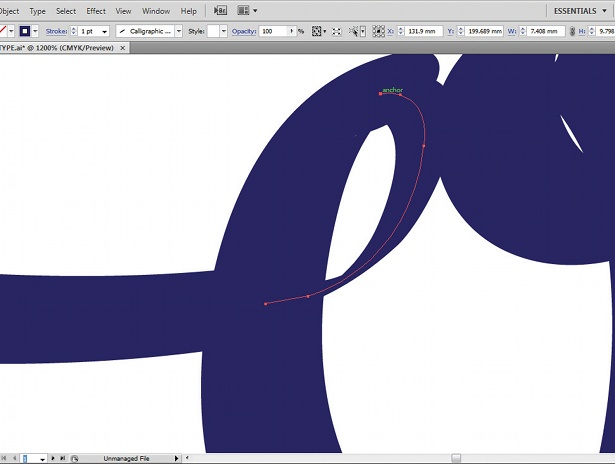 Use the Calligraphic Brush tool: step 8
