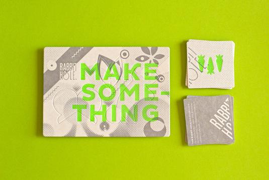 Letterpress business cards: Rabbit Hole