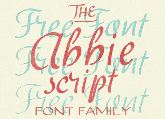 Free font: Abbie Script