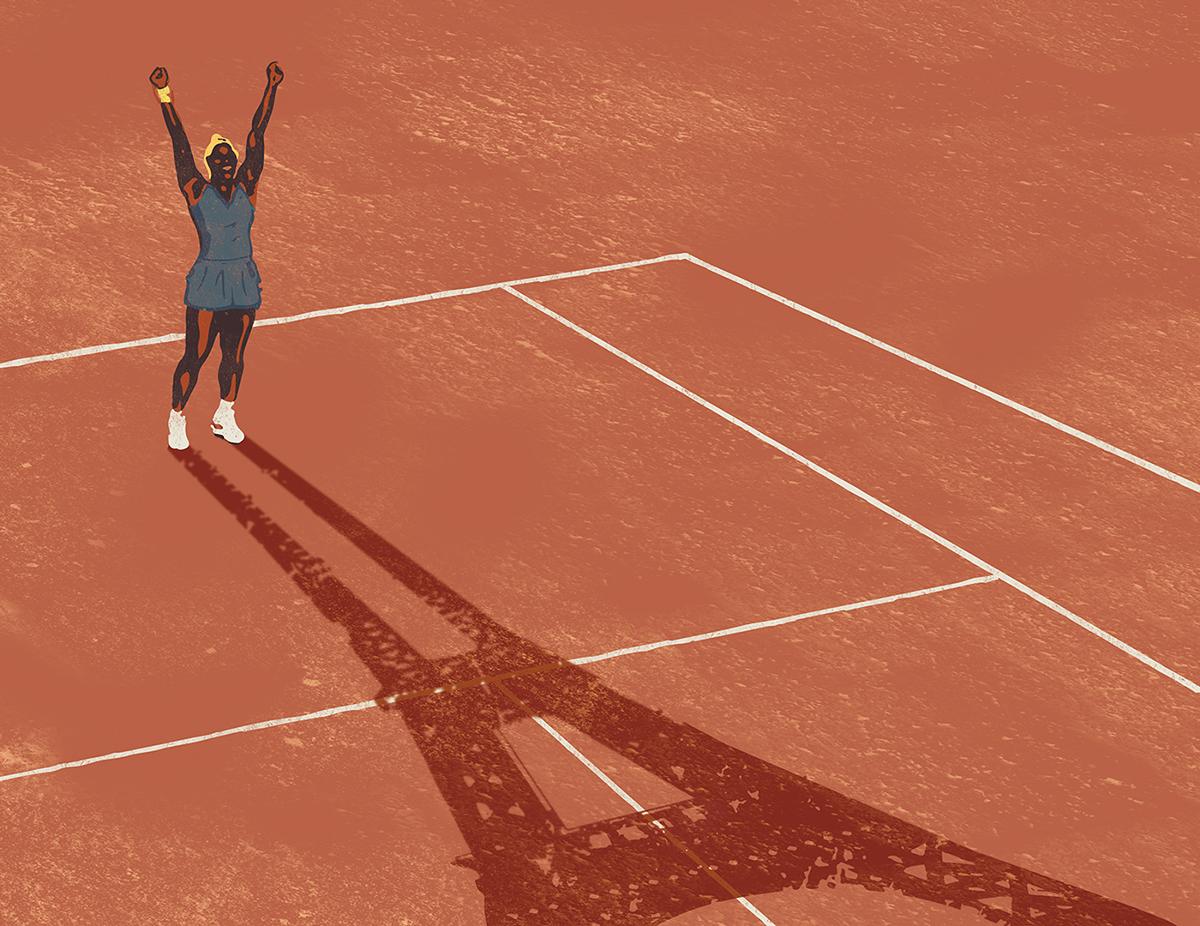 Serena Williams illustration