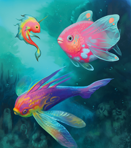 These fantasy tropical fish will inspire you to paint for Easy fish painting