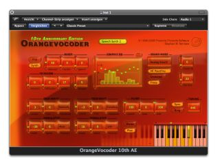 The interface has a predictably orange hue