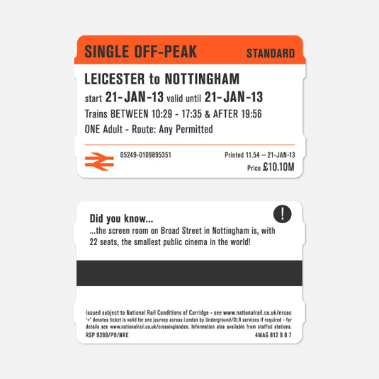 national rail ticket design