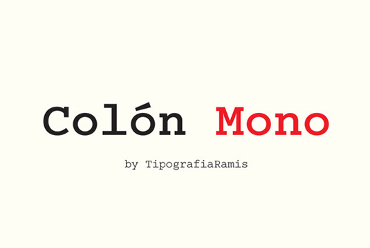 Typewriter fonts: Colón Mono