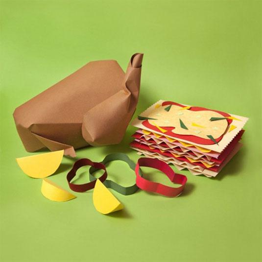 Paper art food