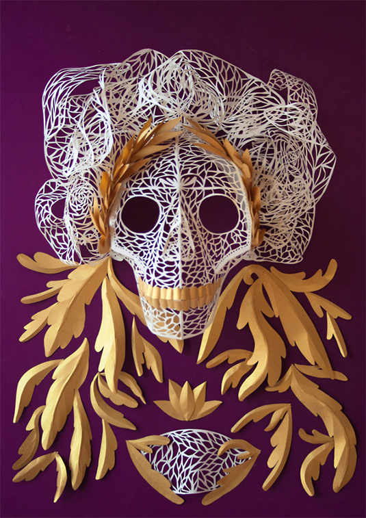 Day of the Dead paper art