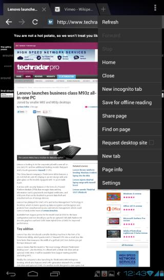 Vodafone Smart Tab 2 review: Internet