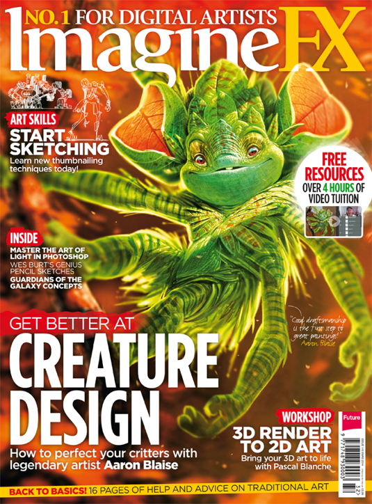 Master creature desingn with the new issue of ImagineFX